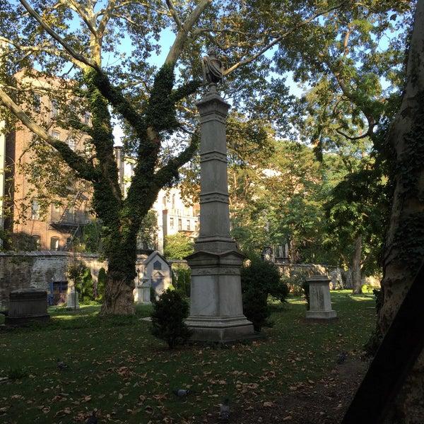 Photo taken at New York City Marble Cemetery by Derek I. on 9/7/2015