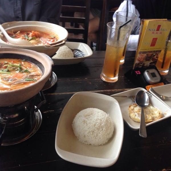 Photo taken at Soul Thai Restaurant by Myra V. on 1/9/2014
