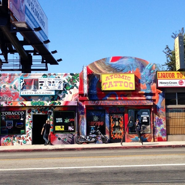 Atomic tattoo tattoo parlor in hollywood for My tattoo shop hollywood