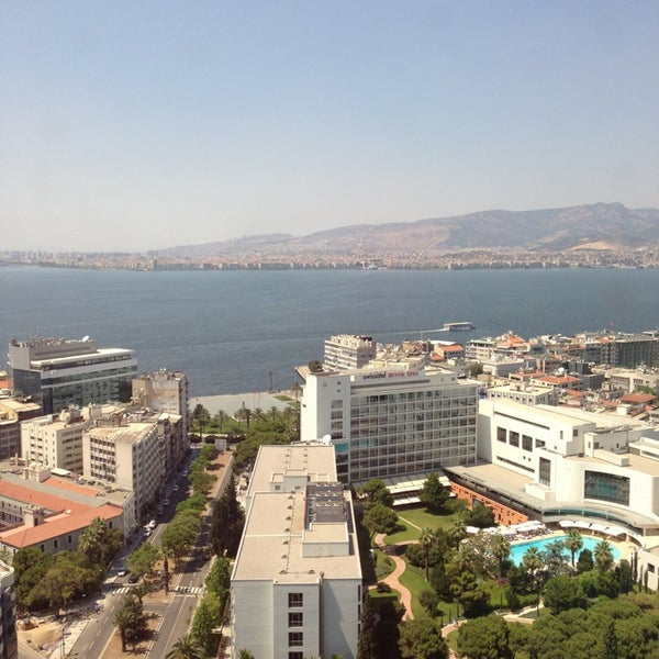 Photo taken at Hilton İzmir by Serife A. on 7/14/2013