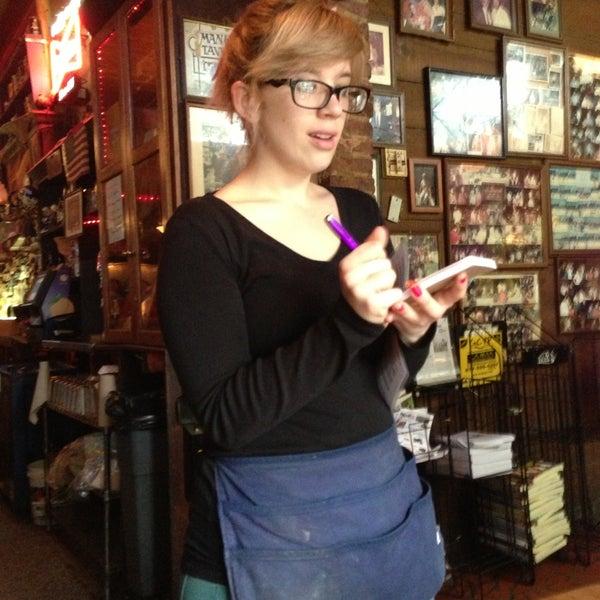 Photo taken at Manuel's Tavern by Tammy M. on 4/14/2013