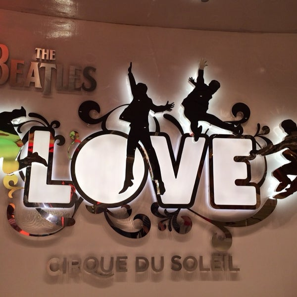 Photo taken at The Beatles LOVE (Cirque Du Soleil) by Sonia R. on 4/15/2014