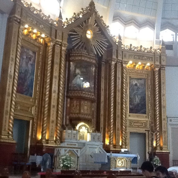 Photo taken at National Shrine of Our Lady of Peace and Good Voyage (Antipolo Cathedral) by Iam P. on 6/17/2015