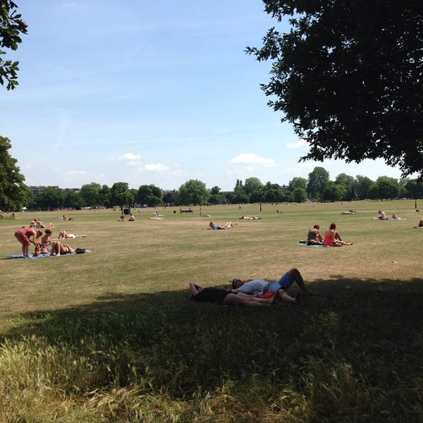 Photo taken at Clapham Common by Antonio V. on 7/14/2013