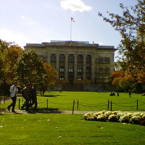 Photo taken at Harvard Medical School Quadrangle by SupahFans S. on 10/22/2012