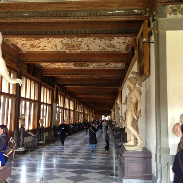 Photo taken at Galleria degli Uffizi by Evgeniya N. on 4/3/2013