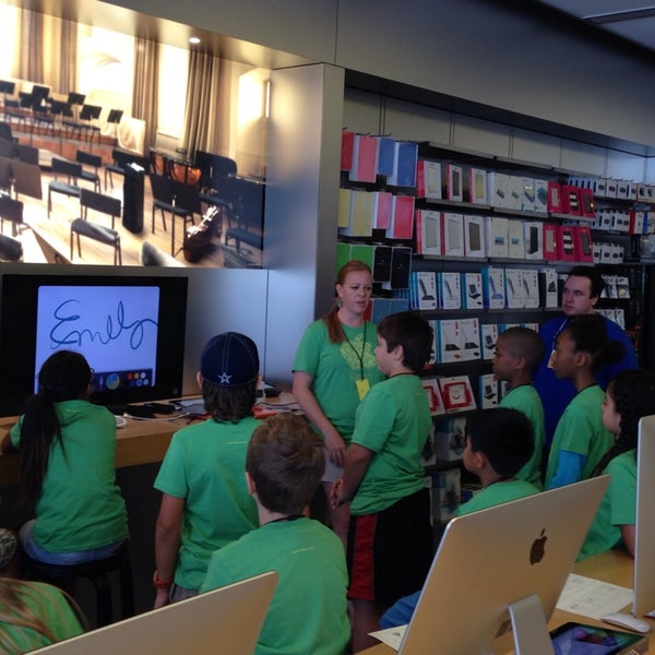 Photo taken at Apple Store, University Park Village by Angie A. on 7/21/2014