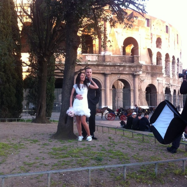 Photo taken at Piazza del Colosseo by n!cola on 3/7/2014