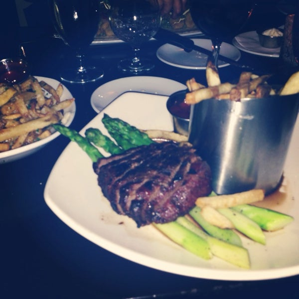 The steak and asparagus is amazing. The Truffle Fries...you'll get two side orders of those. A+