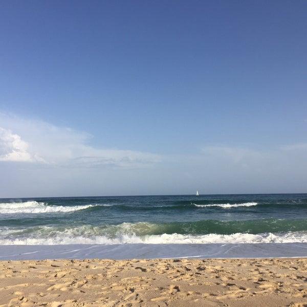 Photo taken at Praia do Barril by Serge R. on 8/25/2016