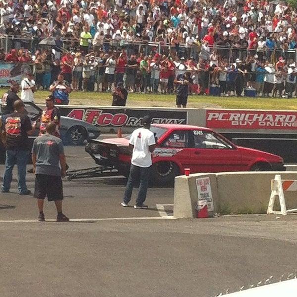 Photo taken at Atco Raceway by OJ P. on 7/21/2014