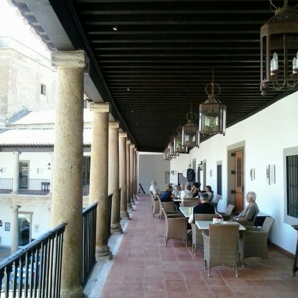 Photo taken at Hotel Parador de Oropesa by Angel M. on 6/8/2014