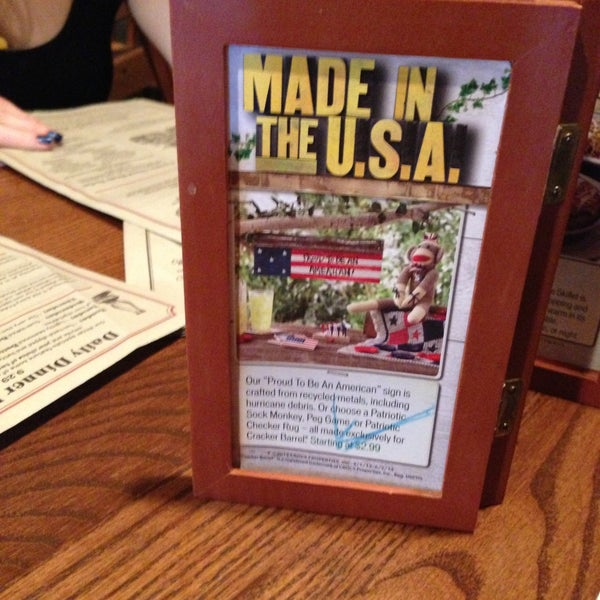 Photo taken at Cracker Barrel by Will L. on 4/14/2013