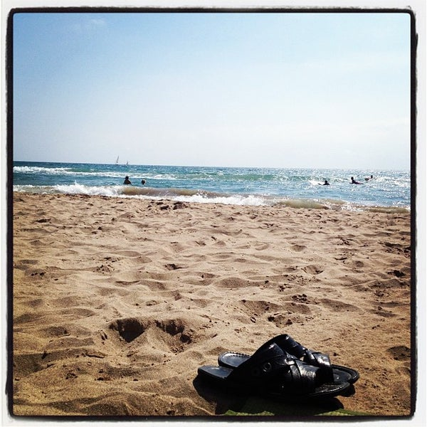 Photo taken at Platja de Calafell by Nick S. on 9/22/2012