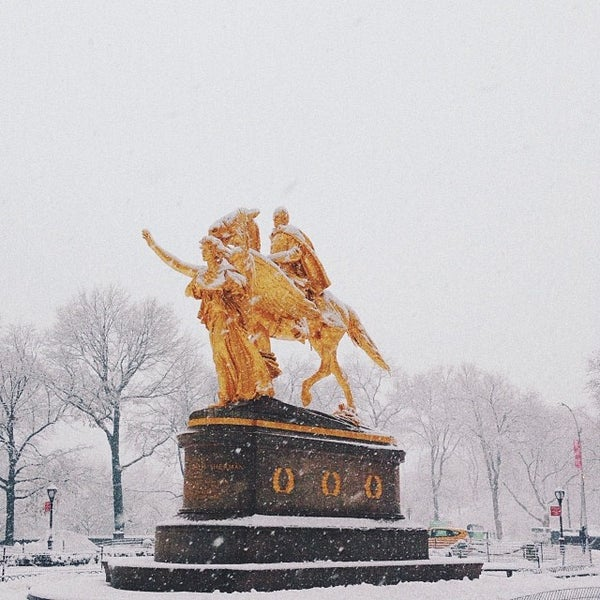 Photo taken at Grand Army Plaza by Jeff T. on 2/3/2014