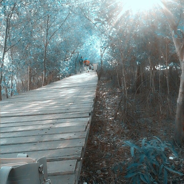 Photo taken at Ekowisata Mangrove by Arhieez C. on 6/14/2014