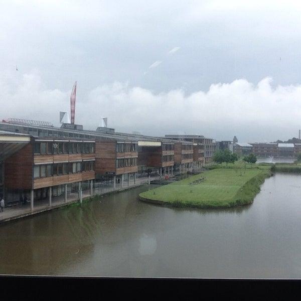 Photo taken at Djanogly Learning Resource Centre by Numnine I. on 6/4/2014