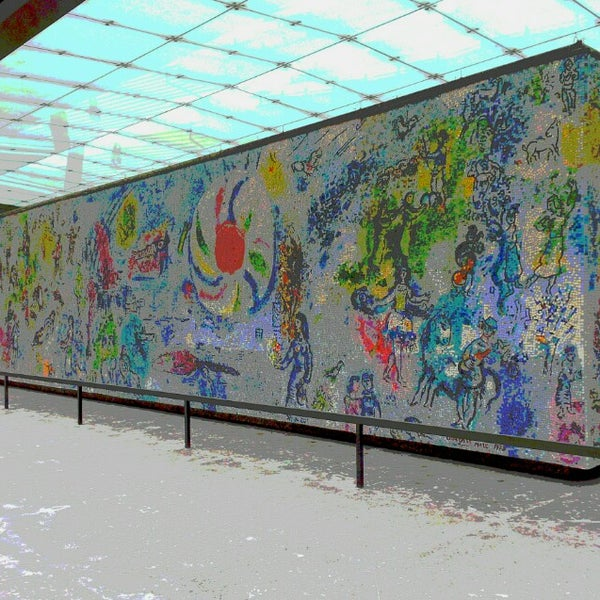 "Photo taken at Chagall Mosaic, ""The Four Seasons"" by K. K. on 2/25/2015"