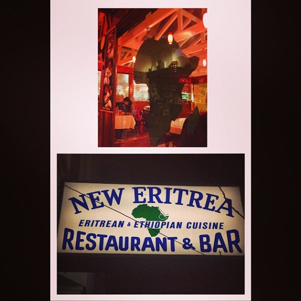 Photo taken at New Eritrea Restaurant & Bar by chuckdafonk F. on 2/22/2013