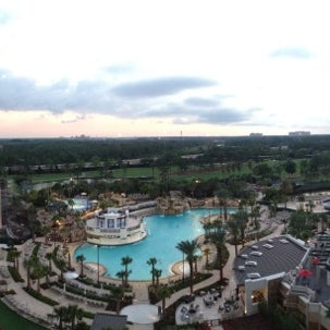 Photo taken at Marriott World Center Pool by Missy on 4/5/2013