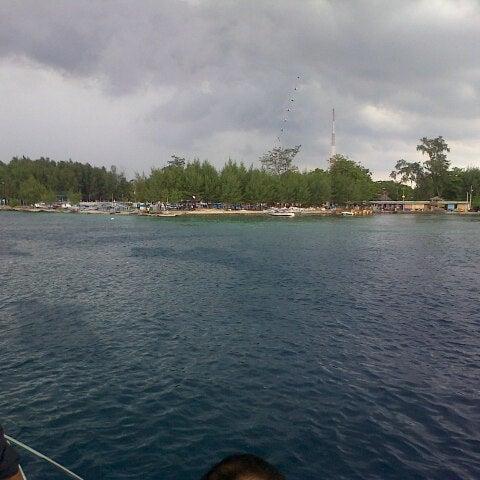 Photo taken at Pulau Pramuka by Dwintha D. on 11/9/2013