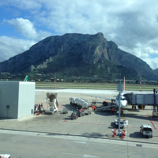 Photo taken at Palermo Airport (PMO) by Paolo B. on 3/16/2013