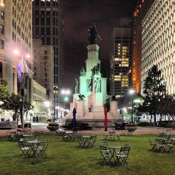 Photo taken at Campus Martius Park by Detroiting on 12/9/2012