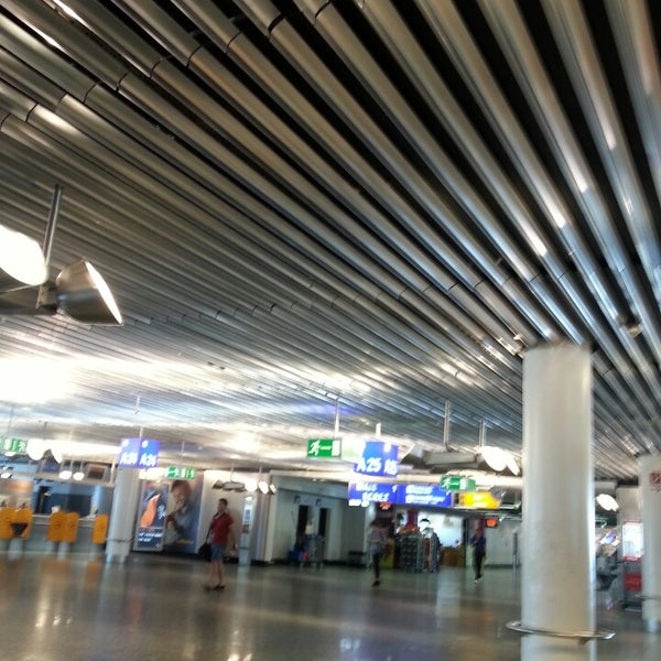 Photo taken at Gate A25 by Filippo C. on 7/8/2013