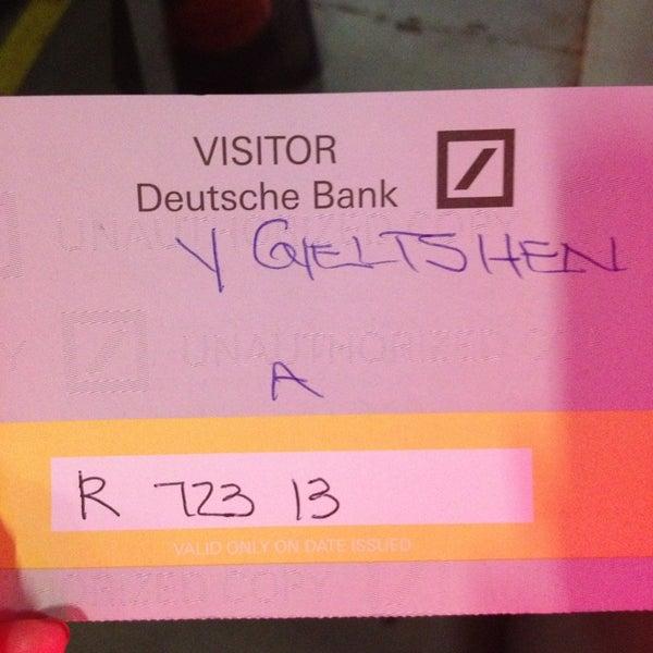 Photo taken at Deutsche Bank by Yesh G. on 7/23/2013