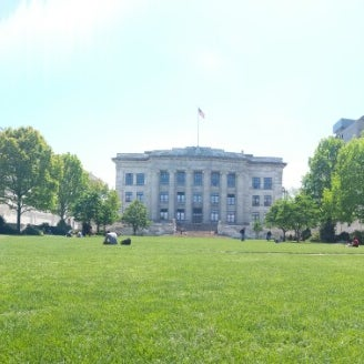 Photo taken at Harvard Medical School Quadrangle by Becka S. on 5/21/2014