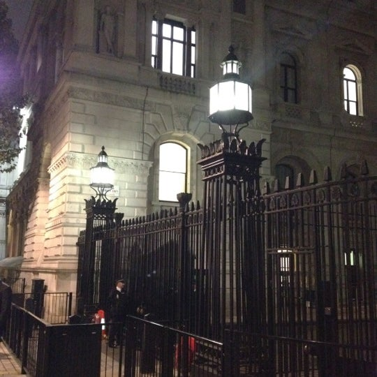 Photo taken at 10 Downing St. by Andrea R. on 10/21/2011