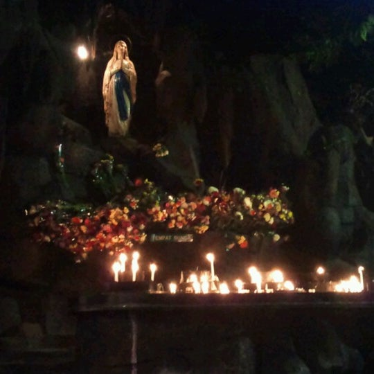 Photo taken at Gua Maria Kerep by Maria S. on 8/21/2012