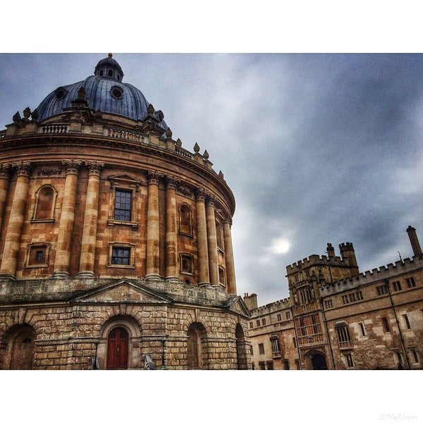 Photo taken at Radcliffe Camera by J Matthew M. on 1/27/2015