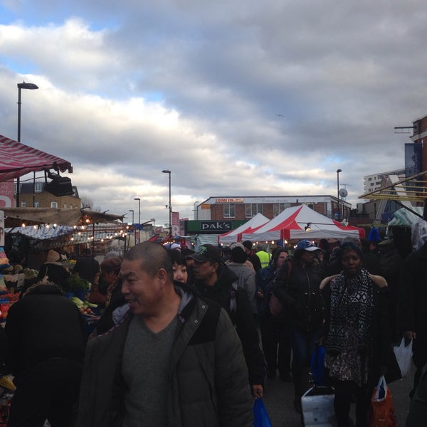 Photo taken at Ridley Road Market by Alfama on 12/24/2014