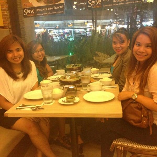 Photo taken at Sérye Café Filipino by Carriza A. on 8/27/2014