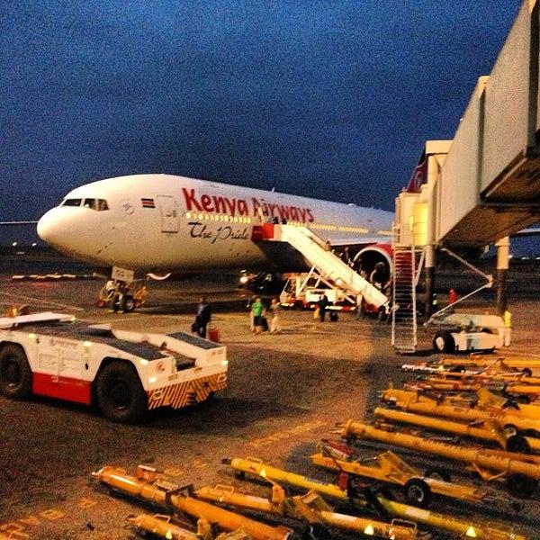 Photo taken at Jomo Kenyatta International Airport (NBO) by Albert C. on 6/13/2013
