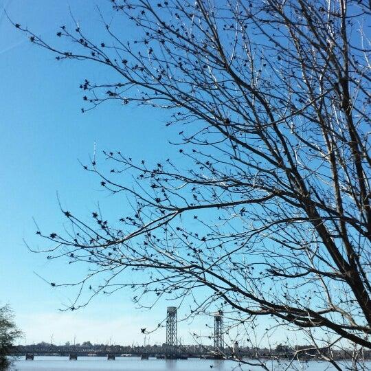 Photo taken at Rio Vista Bridge by elyse m. on 2/14/2015