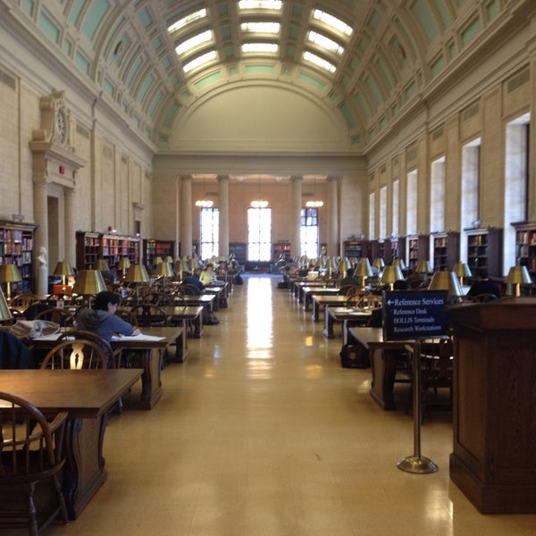 Photo taken at Widener Library by Waldemar A. on 4/10/2014
