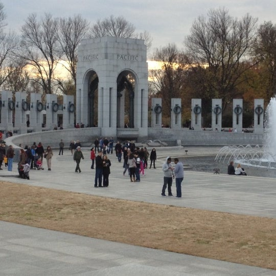 Photo taken at World War II Memorial by Victor W. on 11/23/2012