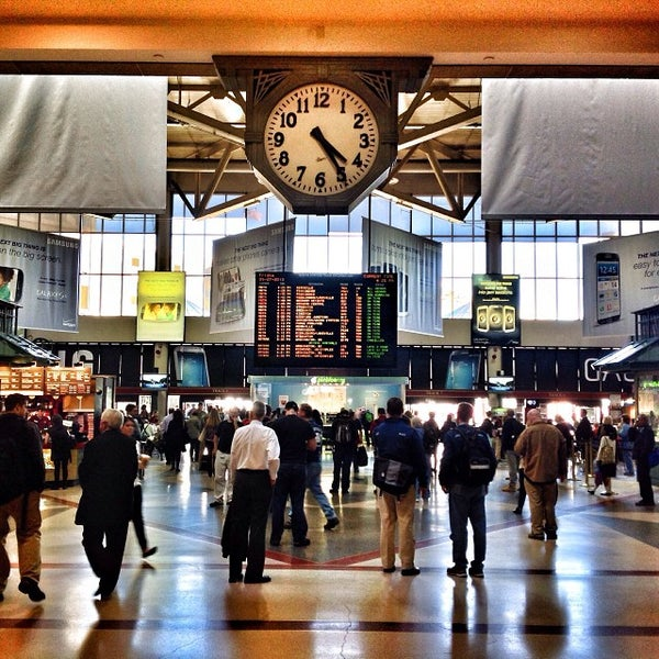 Photo taken at MBTA South Station by Ukemeabasi E. on 9/27/2013