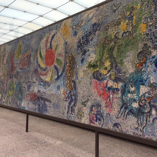 """Photo taken at Chagall Mosaic, """"The Four Seasons"""" by Ayça Ö. on 12/3/2016"""