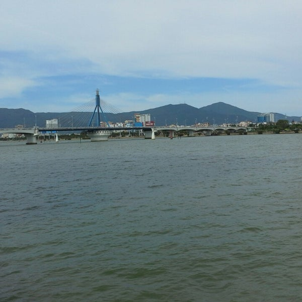 Photo taken at Cầu Sông Hàn (Han River Bridge) by joel l. on 9/12/2014