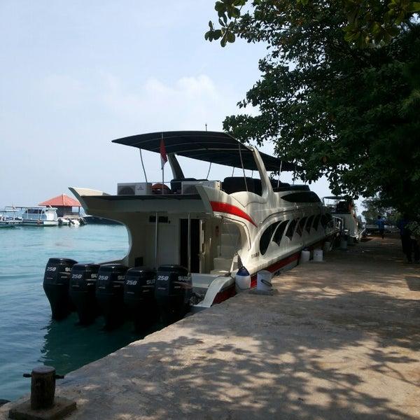 Photo taken at Pulau Pramuka by Mueq C. on 10/19/2013