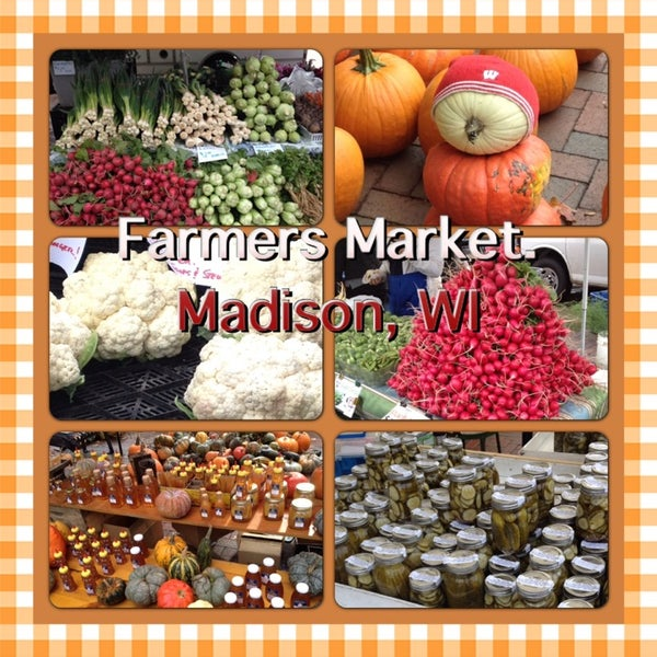 Photo taken at Dane County Farmers' Market by Christine S. on 10/15/2013