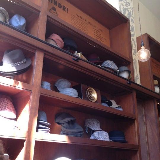 Photo taken at Goorin Bros. Hat Shop by Marina P. on 10/27/2012