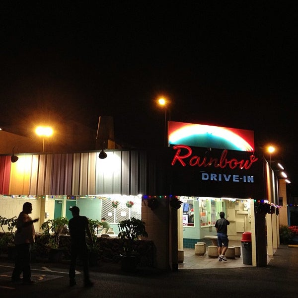 Photo taken at Rainbow Drive-in by Timothy M. on 12/22/2012