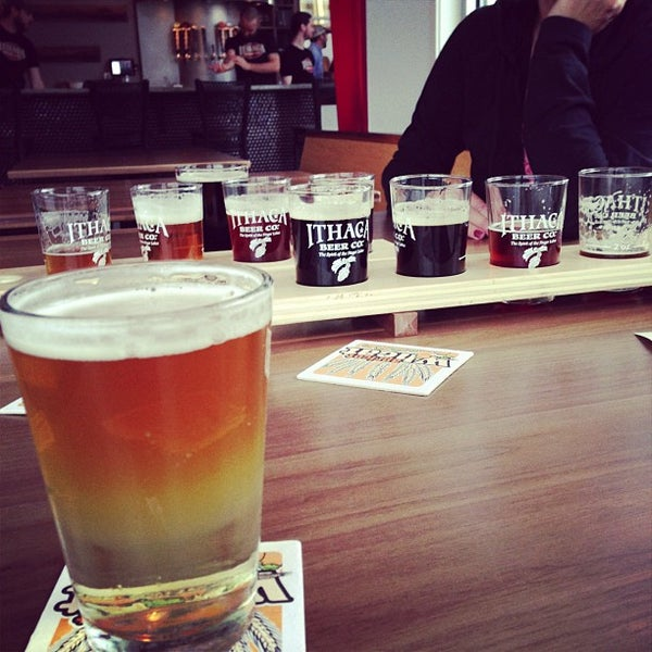 Photo taken at Ithaca Beer Co. Taproom by Katie L. on 11/23/2012