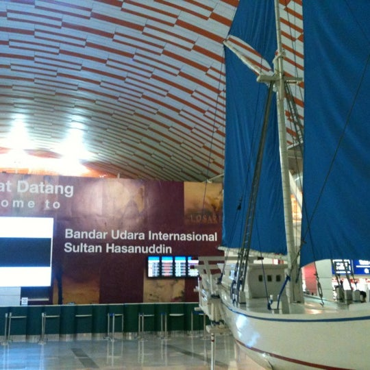 Photo taken at Sultan Hasanuddin International Airport (UPG) by Mita D. on 3/27/2013