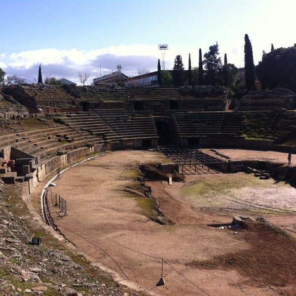 Photo taken at Anfiteatro Romano by Javier R. on 2/1/2014