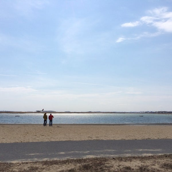 Photo taken at Constitution Beach by Alex A. on 3/22/2014